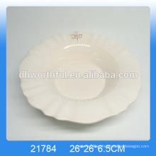 Настроить белое керамическое обеденное блюдо, тарелки с логотипом