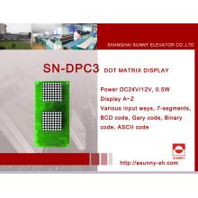 Pantalla de pulgadas para elevador (SN-DPC3)