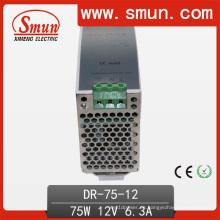 Fuente de alimentación de conmutación de carril DIN 75W (DR-75) 12V 6A