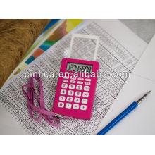 Tempo mostrando calculadora, calculadora com despertador, calculadora de presente com corda CA-89