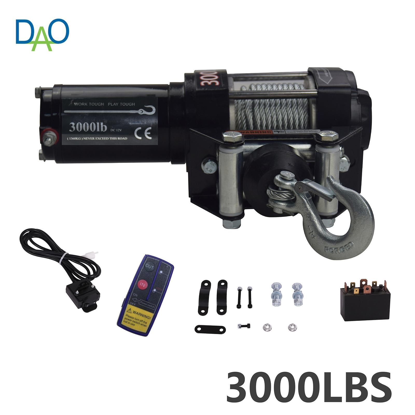 Electric Winch 4x4 3000lbs
