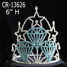 Rhinestone Star Crowns Diamond Stars Crystal Tiara