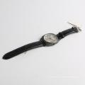 Relógio de aço inoxidável relógio quadrado de couro genuíno, japão relógio de movimento Miyota