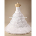 2017 Cheap Modern Style and Bride ball gown white wedding dresses for civil Wedding