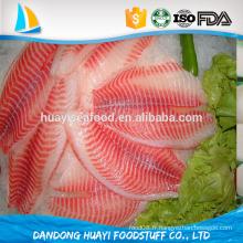 Filet de poisson Tilapia congelé de qualité supérieure de poisson congelé
