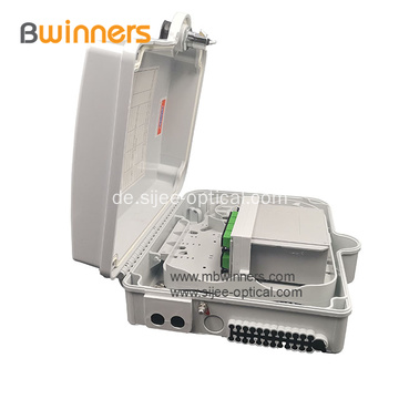 FTTH IP65 wasserdicht 16 Kerne 1 * 8 1 * 16 PLC Splitter Fiber Optic Distribution Box