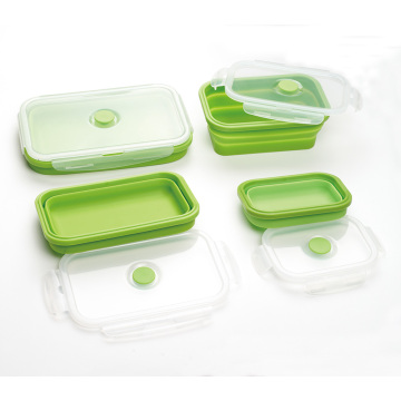Venda por atacado Leak Proof Silicone Lunch Box 4pack