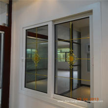 Conch brand double tempered clear glass upvc windows sliding window
