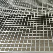 Folha de metal perfurada do furo quadrado de alumínio