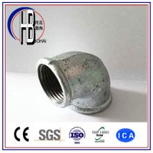 Cotovelo de 90 graus de aço maleável com conector de raio curto com melhor preço