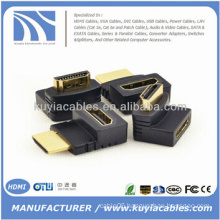 HDMI Female to Male F/M 90 Degree Adapter Connector Coupler Extender