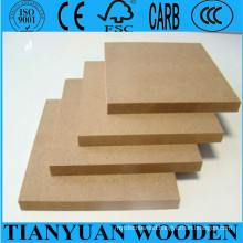 Best Price 12mm MDF/ 12mm Plain MDF/ 12mm Melamine MDF