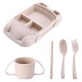 Car Shape Wheat Straw Dinnerware Set