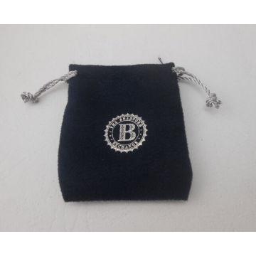 Saco de pequena flanela com logotipos de impressão (GZHY-DB-008)