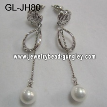 elegant women shell pearl earrings