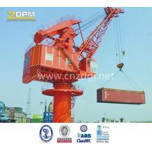 Pedestal marine fixed boom deck crane