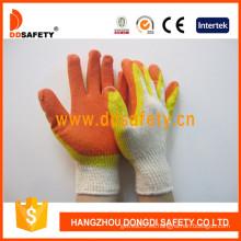 Látex de revestimiento de algodón 13G Látex, guante acabado liso (DKL319)