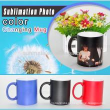 Taza de café mágica de Sunmeta del regalo de la alta calidad DIY para la sublimación, taza cambiante del color