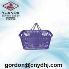 Wholesale Large Circular Flat Supermarket Shopping Basket Zc-16