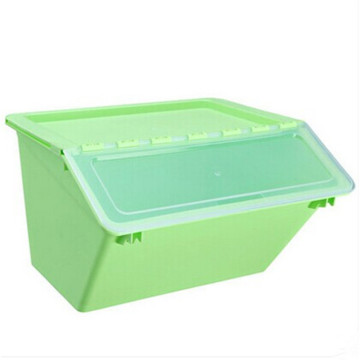Plastic Stack on Multi-Purpose Clear Lid Organizer Bin