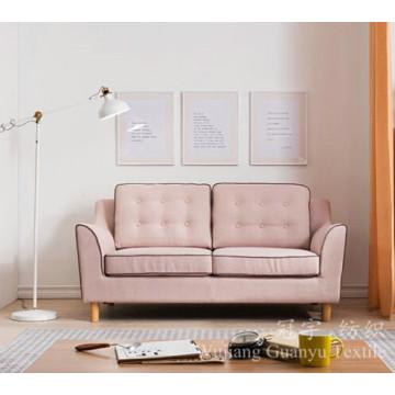 Tissu 100% de linenette de polyester de couverture de sofa à la maison de textile