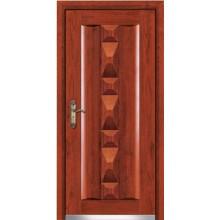 Porta de aço madeira blindado com certificado do CE