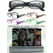 Damen-Mode-Kunststoff-Lese-Gläser (MRP21654)
