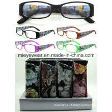 Senhoras moda plástico leitura óculos (MRP21654)