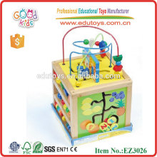 All-Purpose Wooden Activity Cube Toy