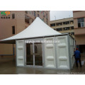 Pagoda tent with solid wall for event, warehouse
