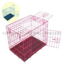 Faltende doppelte Türen Metallhund-Kaninchen-Haustier-Käfig