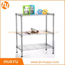 Venta caliente 3-Tier Chrome Kitchen Laundry Wire Estantería de almacenamiento de metal