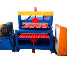 Kombinierte Doppelschicht-Baumaterialmaschinerie-Stahlfliesen-Dachblechrolle, die Maschine bildet