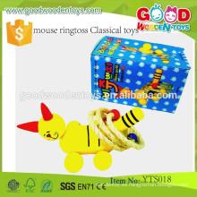 Ratón clásico de madera educativo Ringtoss del juguete del nuevo diseño Juguetes-