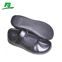 Children Black School Shoes