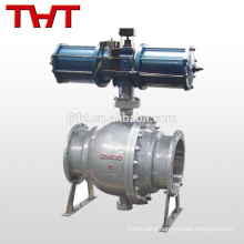 Pneumatic discharge double true union ball valves