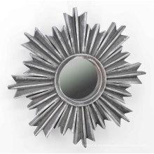 Espejo de inyección de forma de copo de nieve para pared Deco