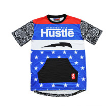 Street Culture Hip Hop Style Basketball T-Shirt Jersey with Design (T5051)