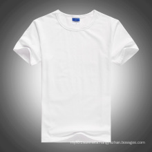 White O-Neck Short-Sleeve Blank Cotton T-Shirt for Heat transfer
