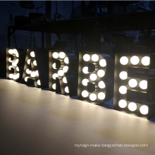 Light Up Sign Led Bulbs Lighted Marquee Sign Stainless Steel Letters Alphabet Lights With English Letters