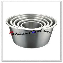 Bacia de mistura de aço inoxidável S243