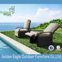 European Style Wicker Patio Möbler Lounge Set