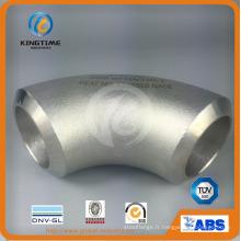 Raccord de soudure bout à bout en acier inoxydable coude 90d Lr Tuyau montage à ASME B16.9 (KT0316)