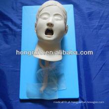 Manequim de treinamento de intubação infantil infantil ISO, modelo de intubação traqueal