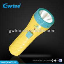 GT-8131 OEM Kids Plastic Mini lampe de poche LED