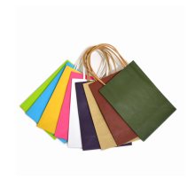 Eco-friendly plain brown paper bags with handles