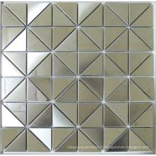 Carrelage en mosaïque en métal en acier inoxydable triangle (SM265)
