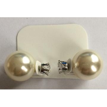 Elegant White Pearl Earrings Fashion Jewellery