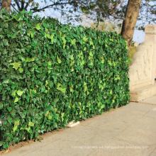 pantalla artificial privacidad cobertura hojas de palma decorativas