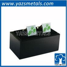 подгоняйте металл запонки, пользовательские высокого качества фирменный логотип запонки